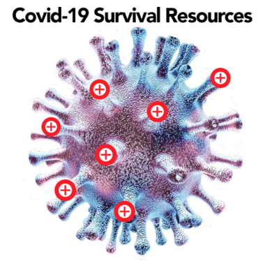 covid 19 survival information icon
