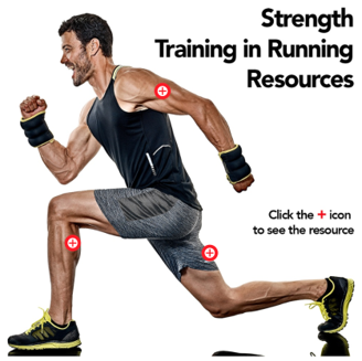 man doing strength exercises to help running